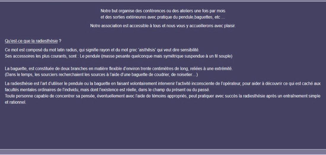 Association des radiesthésistes de la Loire sur Victor Maia médium voyant spiritualiste Brest Finistère Bretagne