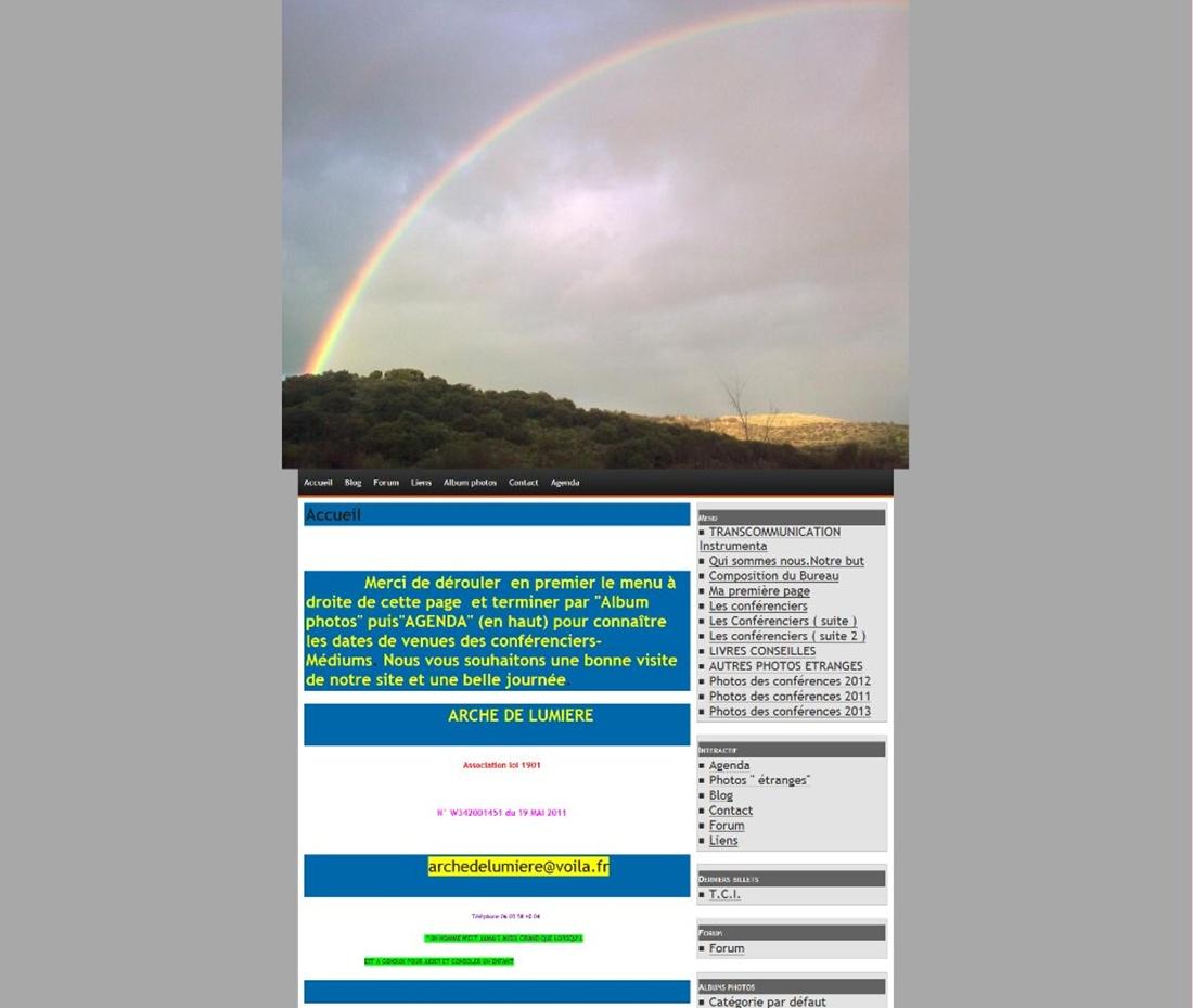 Arche de lumière sur Victor Maia médium voyant spiritualiste Brest Finistère Bretagne